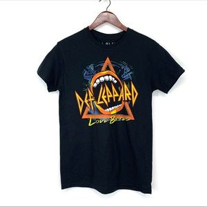 Def Leppard Love Bites Graphic Band Tee Black S